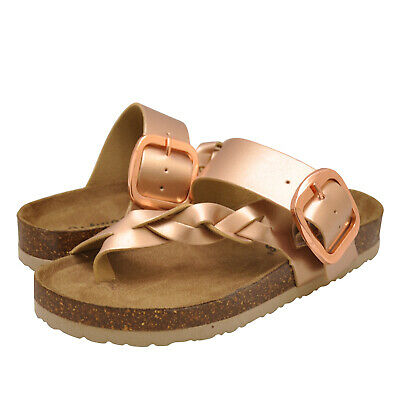 Women's Shoes Outwoods BORK-67 Vegan Strappy Buckle Sandals 21384 ROSE GOLD