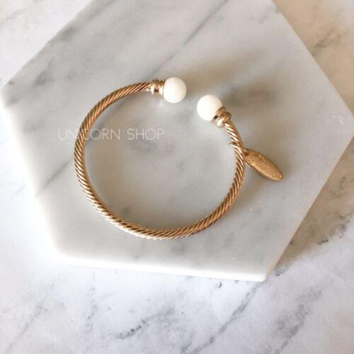 hidden bracelet design gold cream ivory cuff