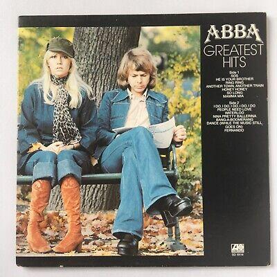 ABBA - GREATEST HITS - ATLANTIC 1976 - GATEFOLD Vintage  LP VINYL RECORD