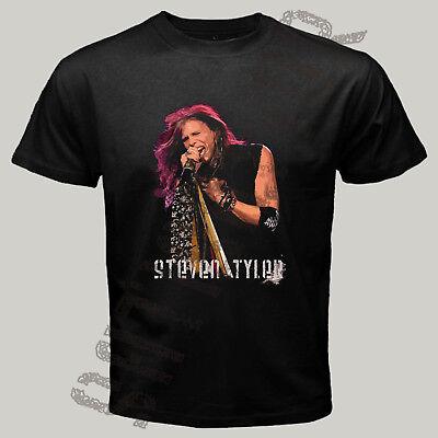 Steven Tyler Shirt (New Steven Tyler Singer Men's Black T shirt S to 3XL Victor)