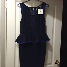 Navy blue peplum dress size 12 Seven Hills Blacktown Area Preview