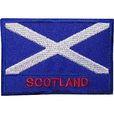 Scotland Flag Embroidered Iron Sew On Patch Scottish T Shirt Kilt Coat Bag Badge