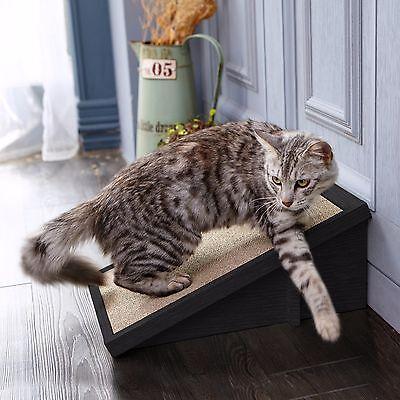Eco Friendly Cat Scratcher Incline,Cat Scratching Pad with Organic Catnip, Black Incline Cat Scratcher