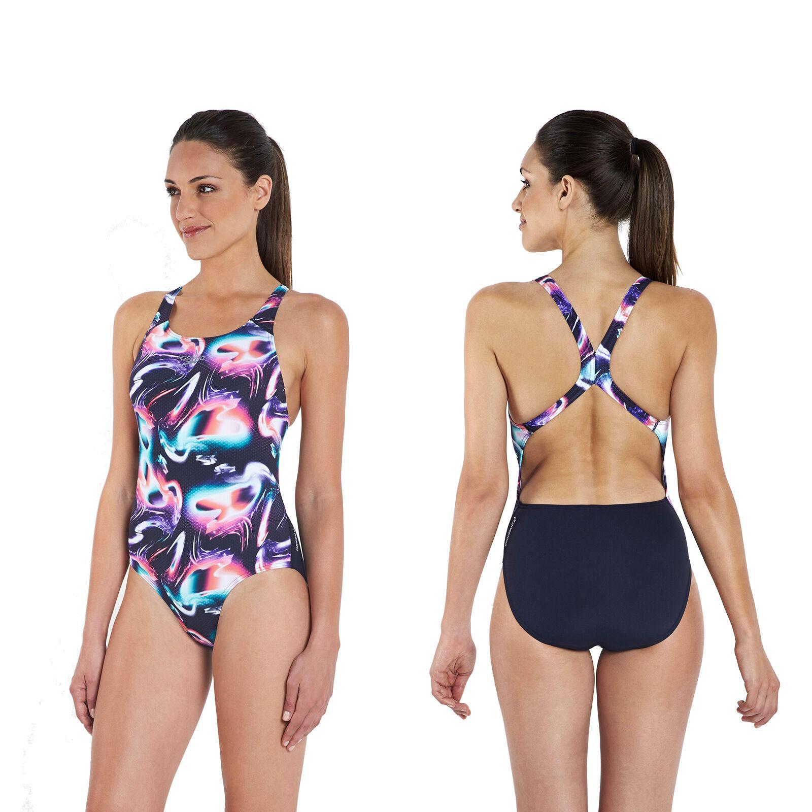 Speedo Badeanzug Schwimmanzug Damen Frauen Powerback Bademode Endurance+ 134
