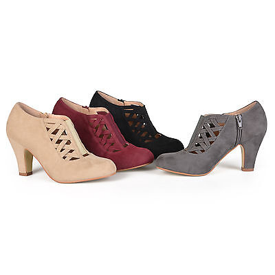 Brinley Co Womens Standard and Wide Width High Heel Round Toe Booties New