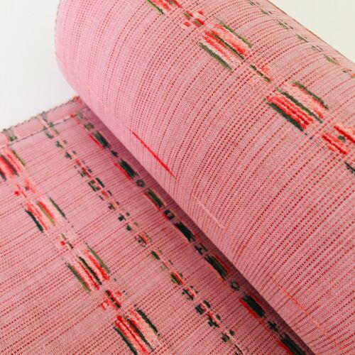 Flamingo Silk Tsumugi Bolt BY THE YARD UnUsed Japanese Kimono Fabric Panel BS42