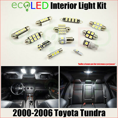 For 2000-2006 Toyota Tundra WHITE LED Interior Light Accessories Package Kit 15x