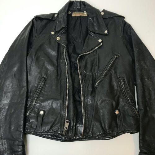 Vintage 1960s Harley Davidson Leather Jacket Original Small/Medium