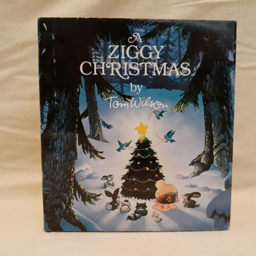 A Ziggy Christmas by Tom Wilson (1981 Hardcover book w/Dust Jacket)