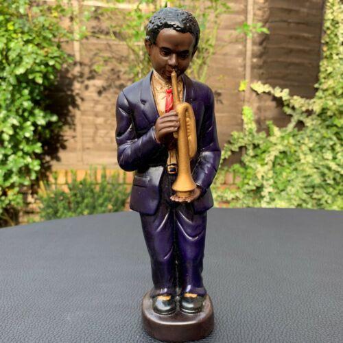 """Shudenhill Art Deco Figurine Jazz Band Musician Trumpet Player Sculpture 9 3/4"""""""