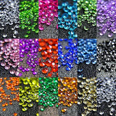 2000pcs 4,5 mm Hochzeit Kristalle Diamant Tisch Konfetti Party Supplies Dekor