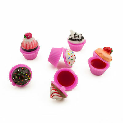 24pc Scented Cupcake Lip Gloss Sprinkle Spa Theme Barbie Baking Party Favor LOT](Cupcake Lip Gloss)