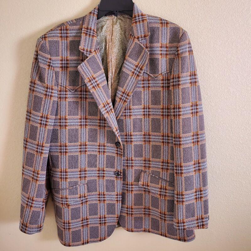 LASSO Vintage Tailored Western Wear Jacket Blazer Size 44