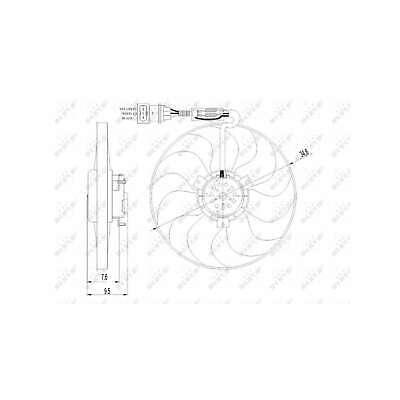 Fits Skoda Fabia 1.2 Genuine NRF Engine Cooling Radiator Fan