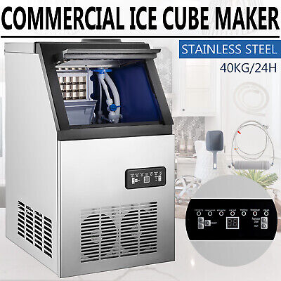 90lb Built-in Commercial Ice Maker Undercounter Freestand Ice Cube Machine 110v