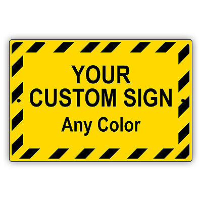 Personalized Custom Designed Text In Any Color Novelty Aluminum Metal Sign