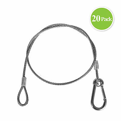 "25.5"" Stage Light Rope Wire Par Hook Safety Strobe Light Cable Hanger 20 Pack"