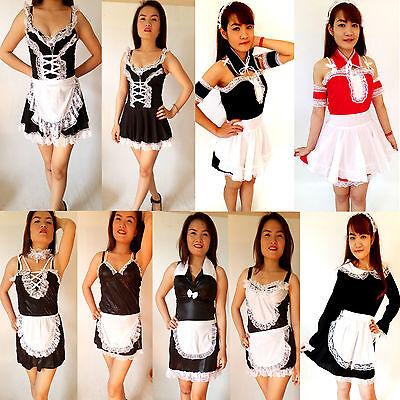 SEXY Dienstmädchen/Zimmermädchen Mini-Kostüm/Kleid-Zofe-Maid Gr. (Thailand Kostüme Kleider)