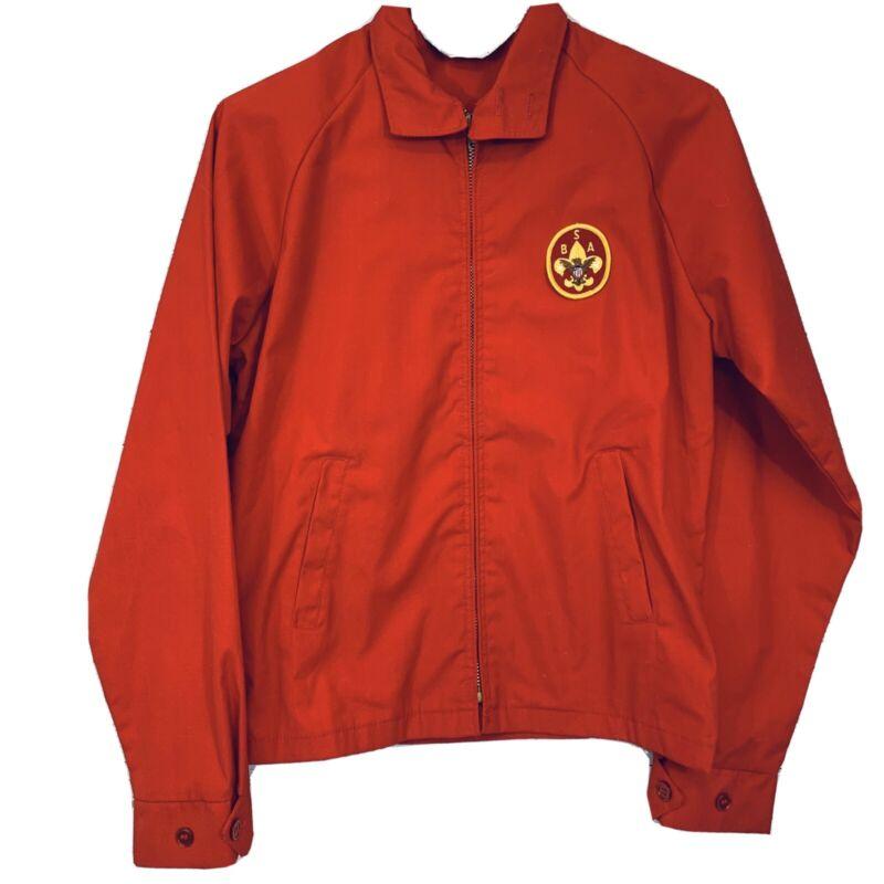 Vintage 1960s Boy Scouts of America Official Jacket Red Talon Zipper Vtg