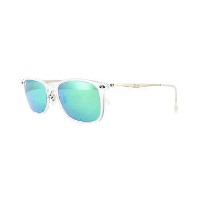 Ray-ban Sonnenbrille Neu Wayfarer Licht Ray 4225 646/3R Transparent Grün Mirror