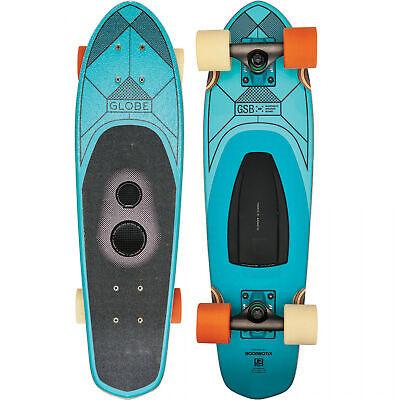 "Globe Cruiser Skateboard GSB Blazer Teal 8"" x 26"" Boombotix Bluetooth Speaker"