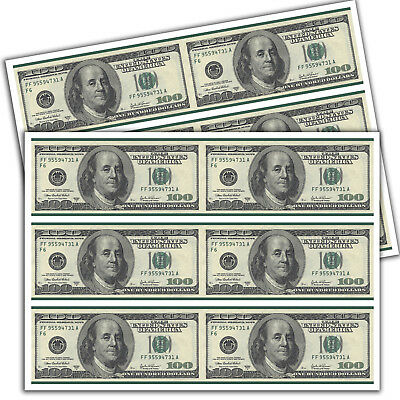 Dollar Bill Cake (EDIBLE Dollar Bill Cake Strips Topper Birthday Party Wafer Paper Sheet)