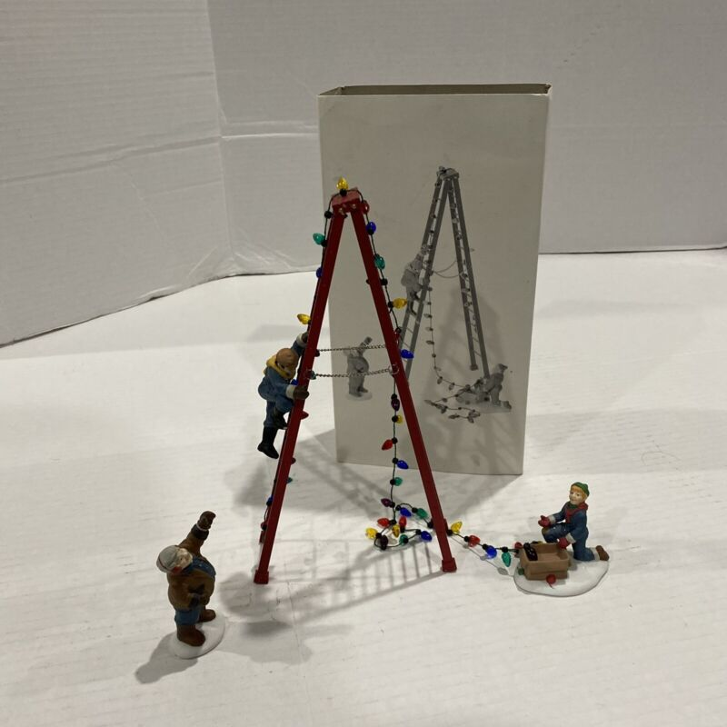 Department 56 Christmas Heritage Village Collection Town Tree Trimmers 5566-2