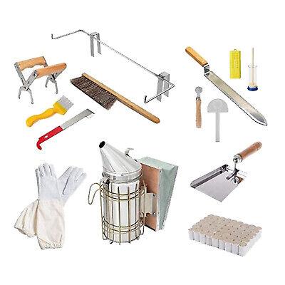 14x Kit Stainless Steel Beekeeping Tools Supplies Bee Hive Smoker Tools