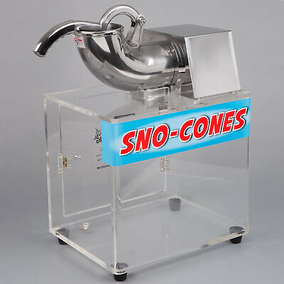 Commercial Snow Cone Maker Shaved Ice Machine Crusher Slushie Electric 120v 250w