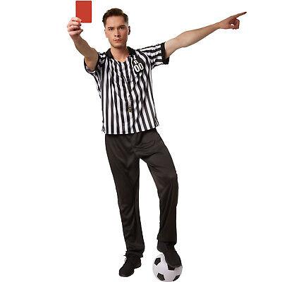 Schiedsrichter Herrenkostüm Fasching Karneval Men Referee Fußball Shiri Kostüm