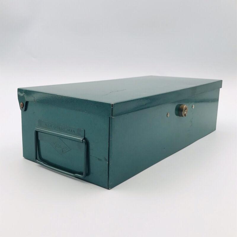 Vintage Merriam No. 8 Guardsman Green Metal Storage Box File Case - No Keys