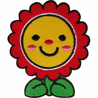 Flower Patch Embroidered Badge Iron Sew On Jeans Tops Embroidery Crafts Applique -  - ebay.co.uk