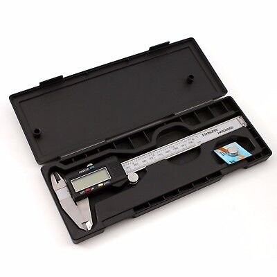 6in 150mm Digital Lcd Electronic Stainless Steel Ruler Vernier Caliper