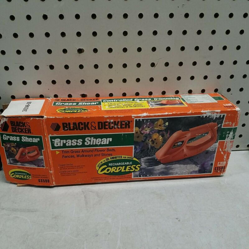 Black & Decker Cordless Grass Shear GS500 3.6V Tool Only UNTESTED
