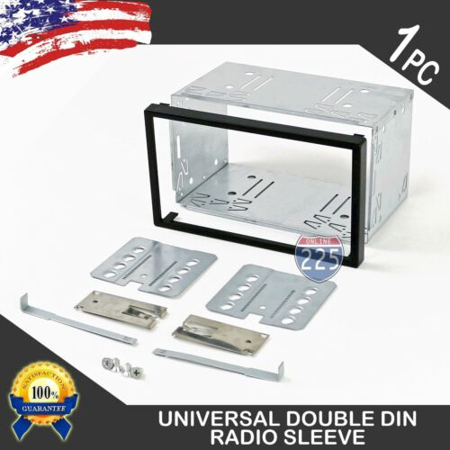 Universal Double DIN Car Stereo Domestic Radio Sleeve Cage Mounting Kit 110mm US