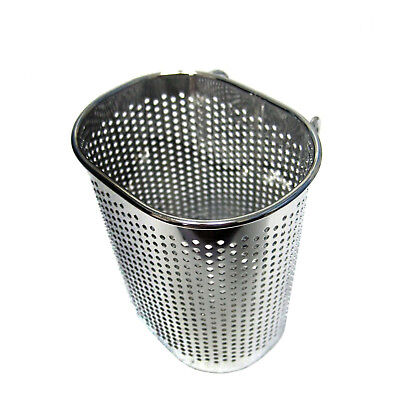 New Stainless Steel Perforated Cutlery Storage Hook Basket Kitchen Drying Rack