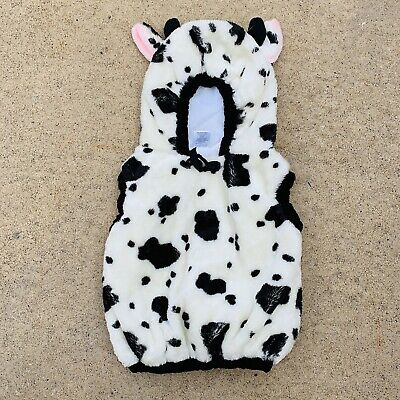 Infant Cow Costumes (Cow Halloween costume black white infant toddler size 12 months 24 months)
