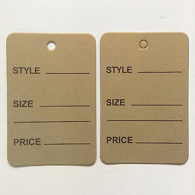 100pcs Gold One Part Price Coupon Tag Clothing Price Tagging Gun Hang Label