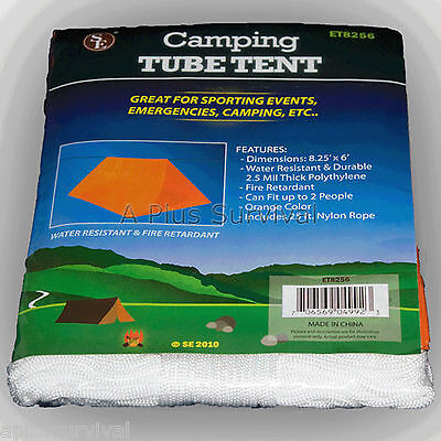 Tube Tent Emergency Survival Camping Shelter Tarp Waterproof Prepper Gear NEW