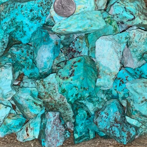 2000 Carat Lots of Natural Turquoise  Rough + a Free Faceted Gemstone