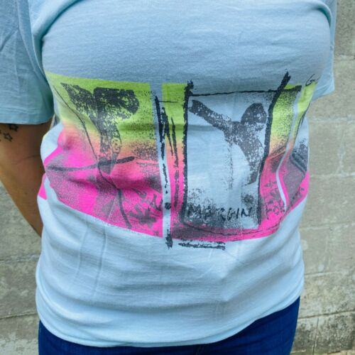 Vintage 1987 Gotcha Sportswear Inc T-Shirt No Margin For Error Single Stitch M
