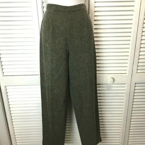 Ellen Figg Vintage linen pants size 12 high waist tapered leg lagen look gray