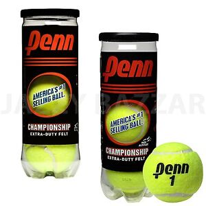 2-CAN-x-3-BALLS-PENN-1-USA-CHAMPIONSHIP-EXTRA-DUTY-FELT-6-TENNIS-BALL-Brand-New