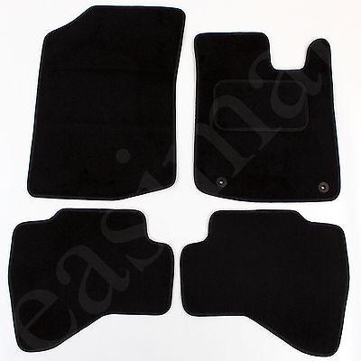 Toyota Aygo 2005-2014 Tailored Carpet Car Mats Black 4pc Floor set 2 clips