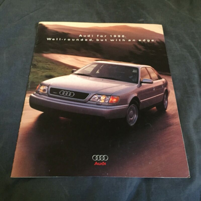1996 Audi Full Line Original Color Brochure Prospekt USA Market