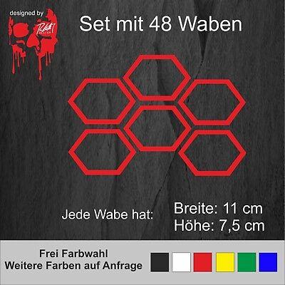 Waben Außen Außenwabe Aufkleber Set Sticker Tuning Auto Folie Wrap Design Dekor