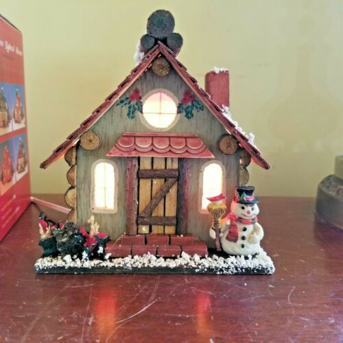 Wooden Lighted Handicrafts Vintage Christmas House Christmas Holiday Village