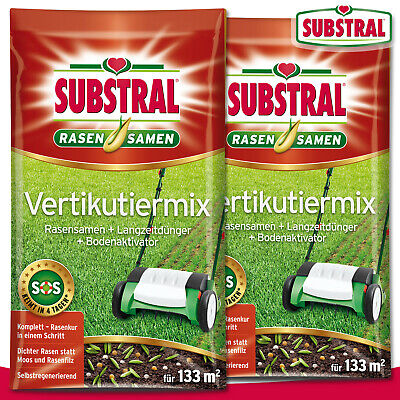 Substral 2 x 4 KG Aerating Mix Lawn Seed + Fertilizer + Soil Activator