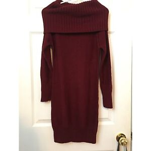 Maroon sweater dress