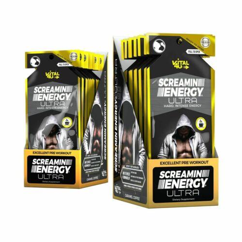 Vital 4U Screamin Energy ULTRA - Ready To Drink Pre-Workout Energy Shot 24 Pack